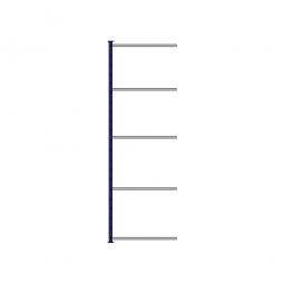 Fachboden-Steck-Anbauregal, kunststoffbeschichtet, HxBxT 2500 x 835 x 415 mm, mit 5 Fachböden