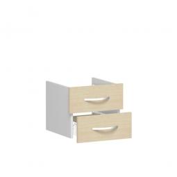 Schubladenset FLEX, Ahorn, Breite 400 mm, hochwertige Metallgriffe in silbermatt