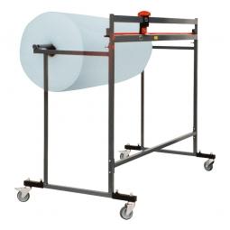 Schneidständer, fahrbar, Schnittbreite 1250 mm,  BxTxH 1400x700x1250 mm