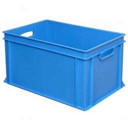 Eurobehälter mit 2 Durchfassgriffen, LxBxH 600x400x320 mm, 63 Liter, blau