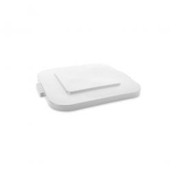 Deckel für Mehrzweckbehälter eckig, 106 Liter, LxB 545x545 mm, weiß, Polyethylen-Kunststoff (PE-HD)