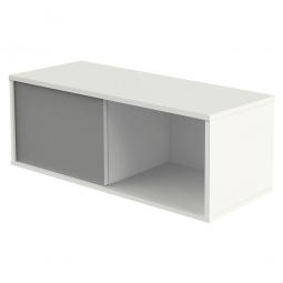 Aufsatzschrank, 1 Ordnerhöhe, Front weiß/graphit, BxTxH 1000 x 400 x 360 mm