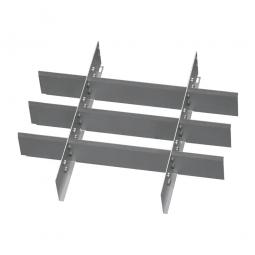 Metalleinteilung, 12 Fächer, Für Schubladen mit Innenmaß 500x450 mm