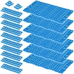 Bodenrost-Set, 18-teilig, blau, 2,3 m²