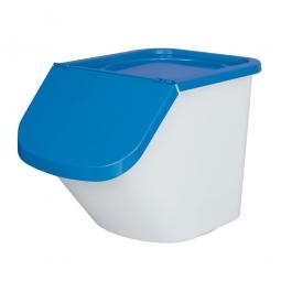 Sortierbox, 40 Liter, Korpus weiß, Deckel blau, Polypropylen (PP), LxBxH 610 x 430 x 450 mm