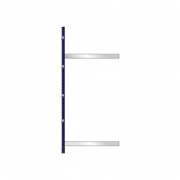 Kragarm-Anbauregal, leichte Ausführung, einseitige Ausführung, BxTxH 1060 x 600 x 2480 mm, Gesamttragkraft 700 kg