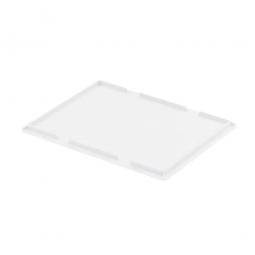 Auflagedeckel für Euro-Stapelbehälter, LxB 400 x 300 mm, Farbe weiß