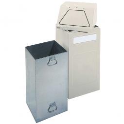 Wertstoffsammler, stationär, Inhalt 65 Liter, BxTxH 405x380x970 mm, grau