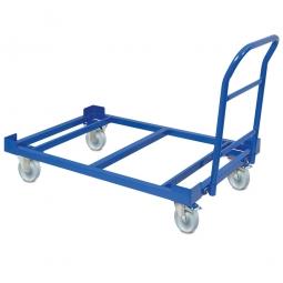 Fahrwagen für Auffangwannen aus Stahlblech, Ladefläche 1200 x 775 mm