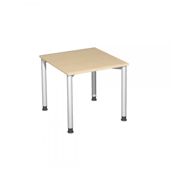 Schreibtisch Komfort Gestell Silber Dekor Ahorn Bxtxh 800x800x720