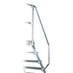 Handlauf aus Aluminium, linke Seite, beidseitig montierbar, passend für 5 + 6 Stufen