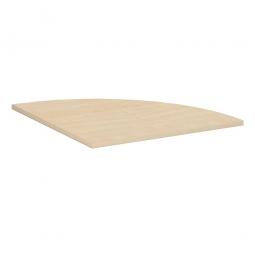 Verkettungsplatte, Viertelkreis 90° Komfort, Dekor Ahorn, BxT 800x800 mm