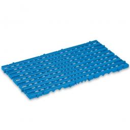 Bodenrost, PE-HD, LxBxH 800x400x25 mm, blau
