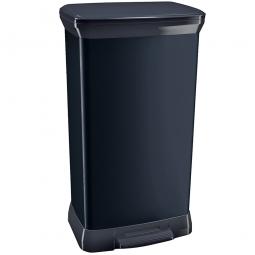 Tretabfalleimer, 50 Liter, BxTxH 390x290x730 mm, Deckel schwarz, Korpus schwarz