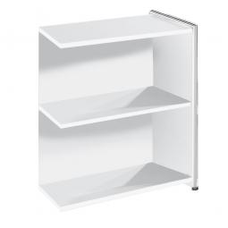 "Anbau-Sideboard ""FUTURE"" BxTxH 780 x 380 x 780 mm, weiß / Chrom"
