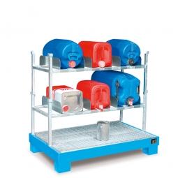 Kanister-Abfüllstation, BxTxH 1300 x 800 x 1265 mm, 84 Liter, blau