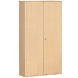 Garderobenschrank PRO, Buche, BxTxH 1200x425x2304 mm, 7 Fachböden, 1 Kleiderstange