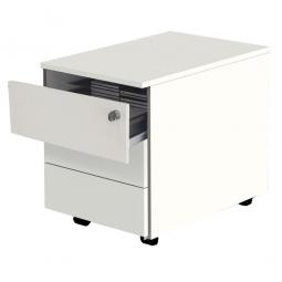 Rollcontainer BxTxH 420x600x540 mm, 3 Schubladen, Farbe weiß