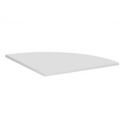Viertelkreis-Verkettungsplatte 90° PREMIUM, Lichtgrau/Silber, BxT 800x800 mm