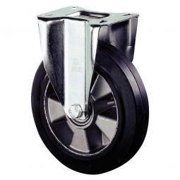 Schwerlast-Bockrolle, Rad-ØxB 125x50 mm, Tragkraft 220 kg, schwarz