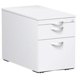 Rollcontainer, 3 Stahlschubladen, weiß, BxTxH 438 x 800 x 565 mm