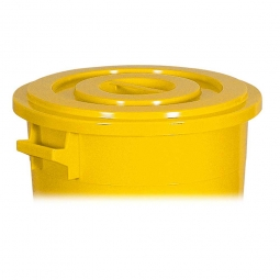 Deckel für Rundtonne 100 Liter, gelb
