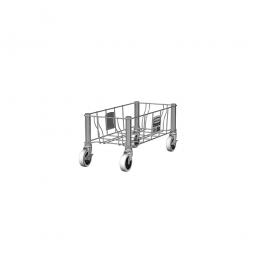 """""""Slim Jim"""" Rollwagen aus Edelsathl, einfach, BxTxH 236 x 508 x 228 mm"""