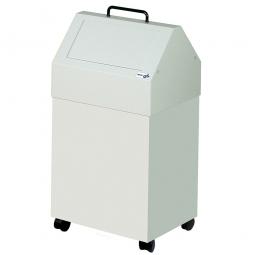 Wertstoffsammler, Inhalt 45 Liter, fahrbar, BxTxH 330x310x710 mm, grau