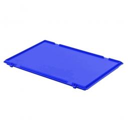 Scharnierdeckel für Euro-Stapelbehälter, LxB 600 x 400 mm, Farbe blau