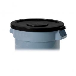 Deckel für Mehrzweckbehälter 167 Liter, schwarz, Ø 610 mm, Polyethylen-Kunststoff (PE)