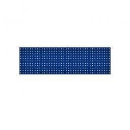 System-Lochplatte, BxH 1500x450 mm, Aus 1,25 mm Stahlblech, kunststoffbeschichtet in saphirblau