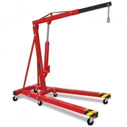 Werkstatt- und Montagekran, rot, LxH 1630 x 1450-2320 mm, Tragkraft 250-1000 kg, Gewicht 72 kg