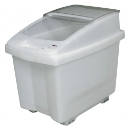 Zutatenbehälter / Zutatencontainer, 80 Liter, BxTxH 435 x 655 x 560 mm, fahrbar, weiß