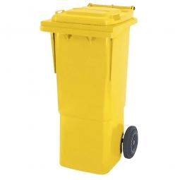 Müllbehälter, 60 Liter, gelb, BxTxH 445x520x930 mm, hohe Ausführung, Polyethylen (PE-HD)