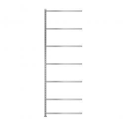 Fachboden-Anbauregal mit 7 Fachböden, Schraubsystem, glanzverzinkt, BxTxH 1003 x 606 x 3000 mm, Tragkraft 85 kg/Boden