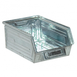 Sichtbox SB6 aus Stahlblech, 8,5 Liter, LxBxH 350/300 x 200 x 145 mm, feuerverzinkt