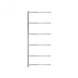 Fachboden-Anbauregal mit 6 Fachböden, Schraubsystem, glanzverzinkt, BxTxH 1003 x 406 x 2500 mm, Tragkraft 150 kg/Boden