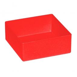Einsatzkasten für Schubladen, rot, LxBxH 99x99x40 mm, Polystyrol-Kunststoff (PS)