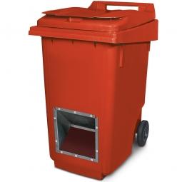 Streugutbehälter mit Entnahmeöffnung, rot, 360 Liter, BxTxH 600 x 875 x 1100 mm