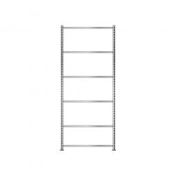 Fachbodenregal mit 6 Fachböden, Schraubsystem, glanzverzinkt, BxTxH 1006 x 306 x 2500 mm, Tragkraft 85 kg/Boden
