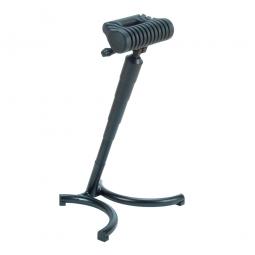 Stehhilfe, Gestell aus Stahlrohr, schwarz, Sitz aus strapazierfähigem PU-Schaum, mit Federung und Griff