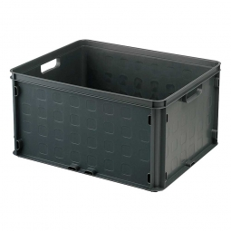 Leichter Stapelbehälter, LxBxH 506 x 406 x 260 mm, 52 Liter, grau