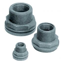 """Anschlussverschraubung 1/2"""" IG, Material PVC grau, Aussengewinde 1"""", Innengewinde 1/2"""""""