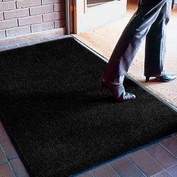 Schmutzfangmatte, LxB 1800x1200 mm, Höhe 9 mm, Flor aus 100% fortlaufender Olefin-Faser, schwarz