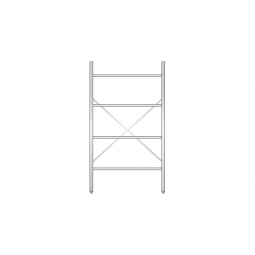 Aluminiumregal mit 4 Gitterböden, Stecksystem, BxTxH 1000 x 500 x 1800 mm, Nutztiefe 480 mm