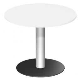 Rundtisch, Tischplatte weiß ØxH 900 x 720 mm