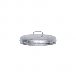 Deckel für Stahl-Mülltonne 60 Liter, Ø 380 mm, feuerverzinkt