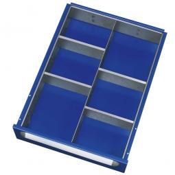 Schubladeneinteilung, 6 Fächer, für Fronthöhe 60-90 mm