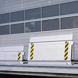 Verschiebbare Überladebrücke, LxB 910 x 1250 mm, Tragkraft 4000 kg, Gewicht 36 kg