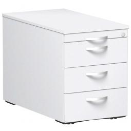 Rollcontainer, 4 Stahlschubladen, weiß, BxTxH 438 x 800 x 565 mm